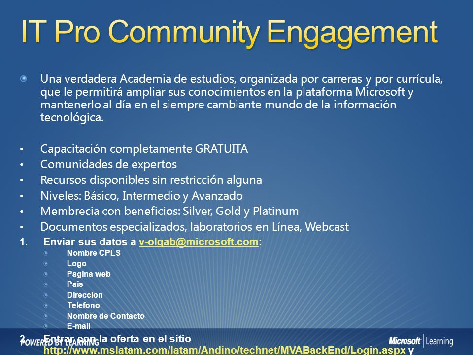 IT Pro Community Engagement