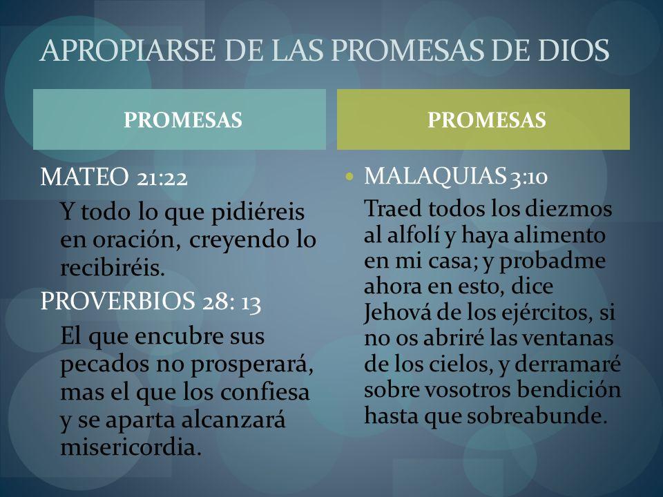 APROPIARSE DE LAS PROMESAS DE DIOS