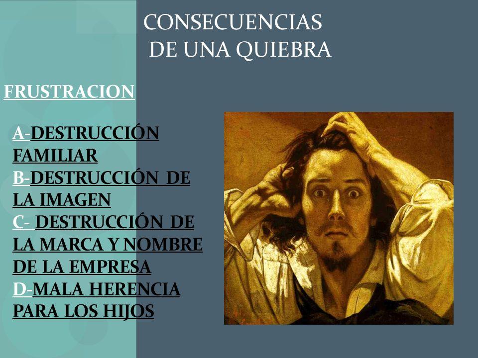 CONSECUENCIAS DE UNA QUIEBRA FRUSTRACION