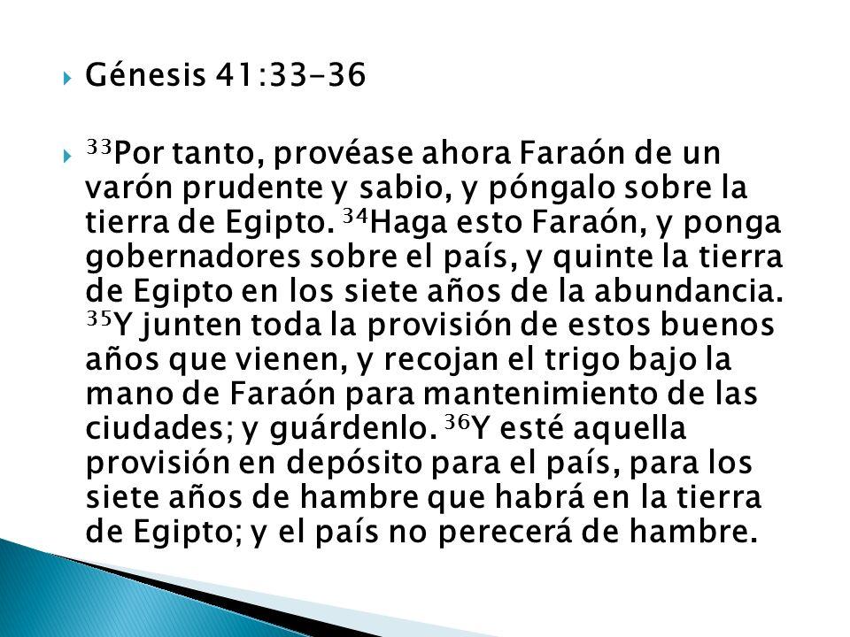 Génesis 41:33-36