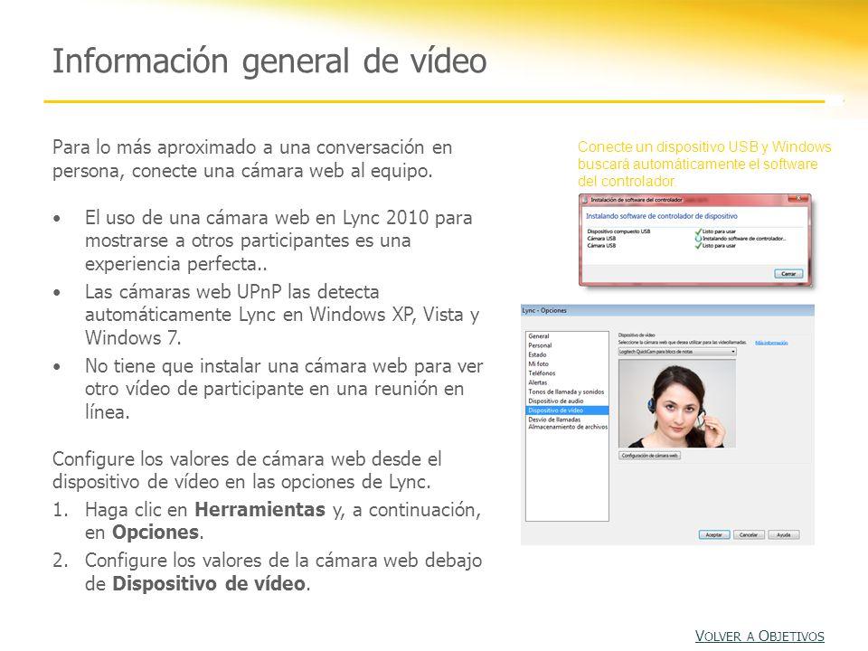 Información general de vídeo