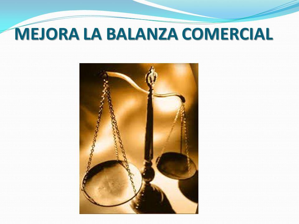 MEJORA LA BALANZA COMERCIAL