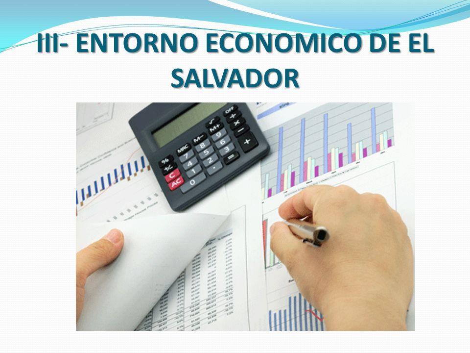 III- ENTORNO ECONOMICO DE EL SALVADOR