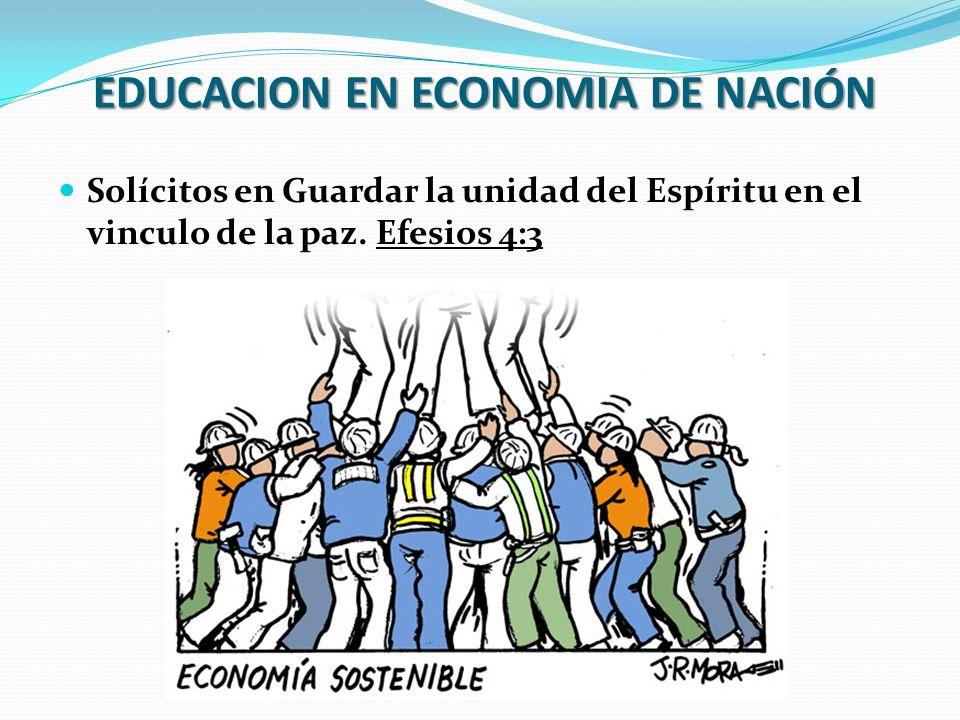 EDUCACION EN ECONOMIA DE NACIÓN