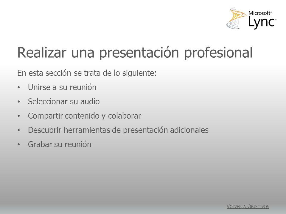 Realizar una presentación profesional
