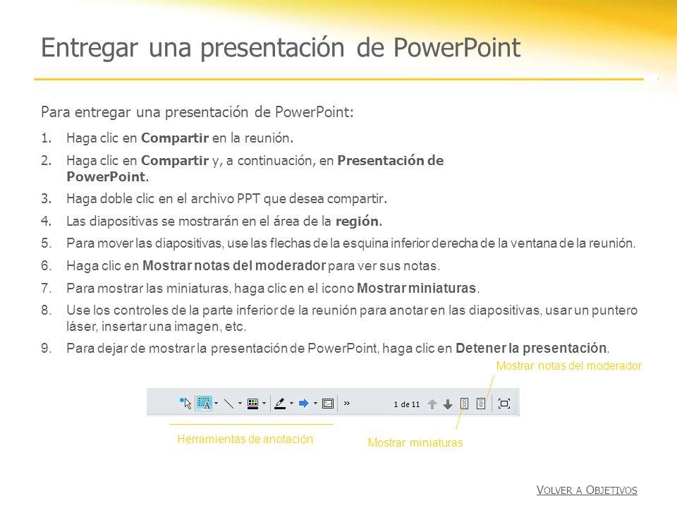 Entregar una presentación de PowerPoint