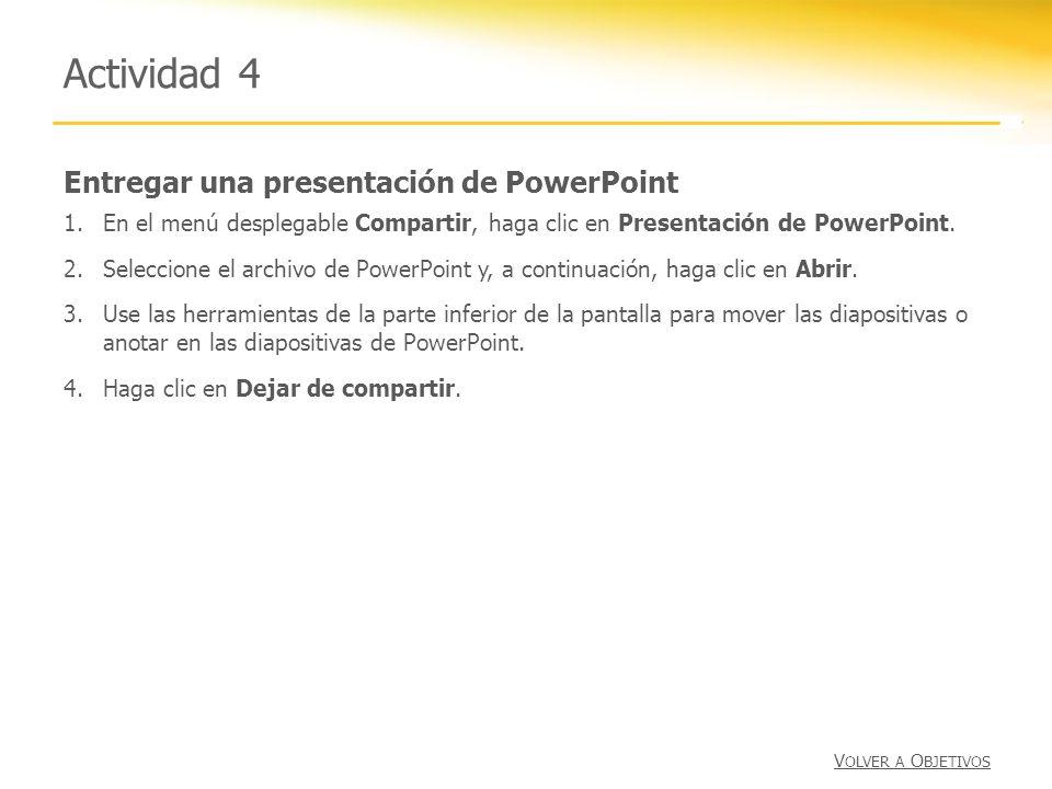 Actividad 4 Entregar una presentación de PowerPoint