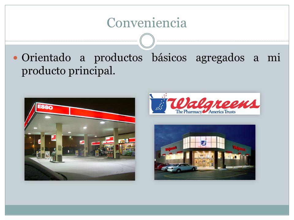 Conveniencia Orientado a productos básicos agregados a mi producto principal.