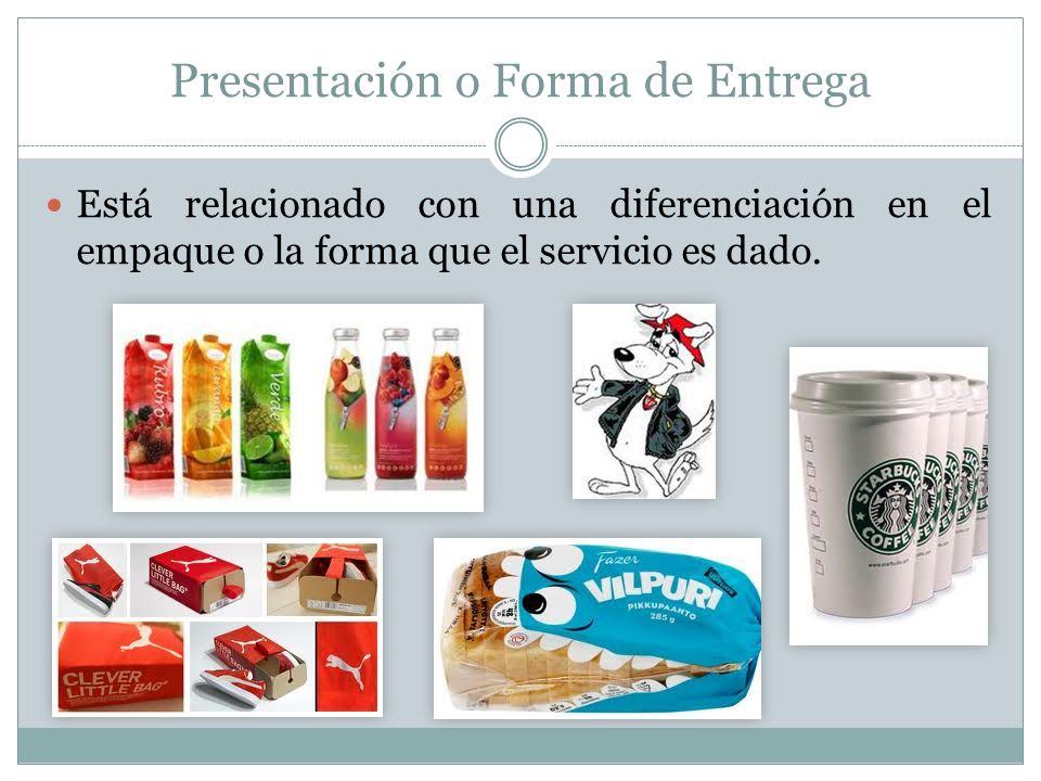 Presentación o Forma de Entrega