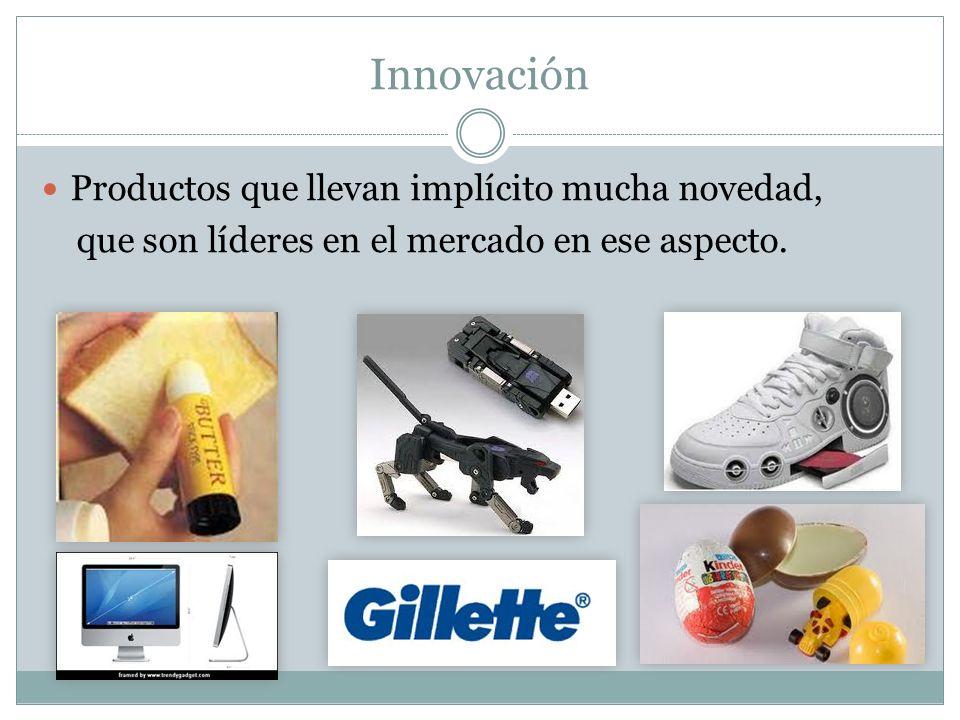Innovación Productos que llevan implícito mucha novedad,