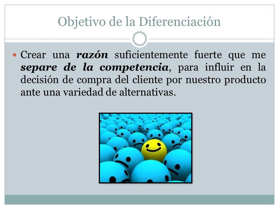 Objetivo de la Diferenciación
