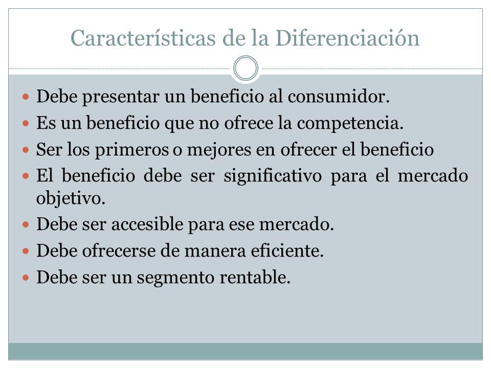 Características de la Diferenciación