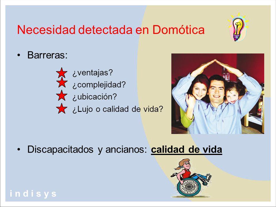 Necesidad detectada en Domótica