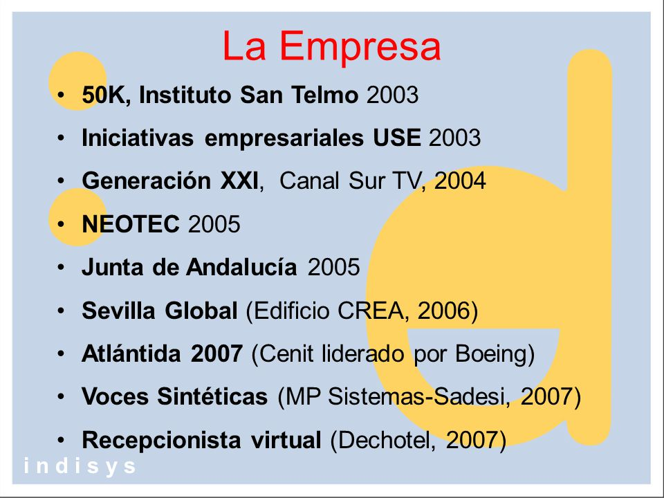 La Empresa 50K, Instituto San Telmo 2003