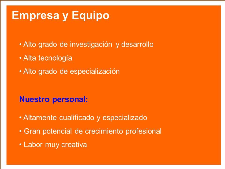 Empresa y Equipo Nuestro personal: