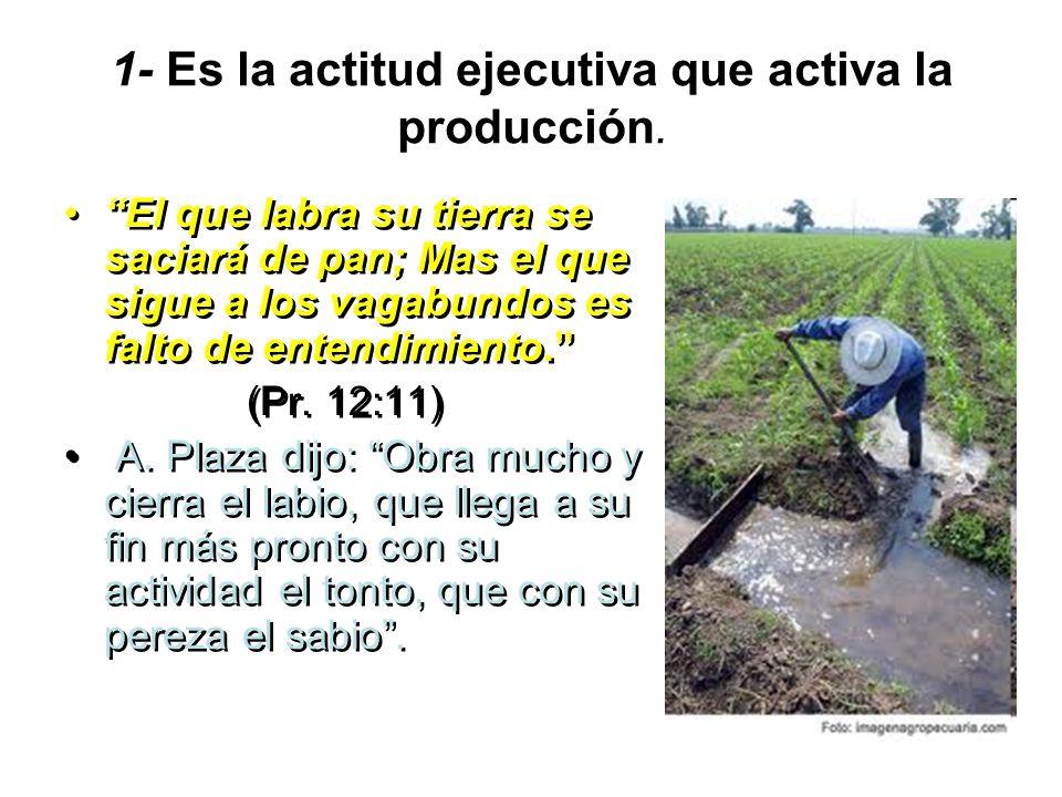 1- Es la actitud ejecutiva que activa la producción.