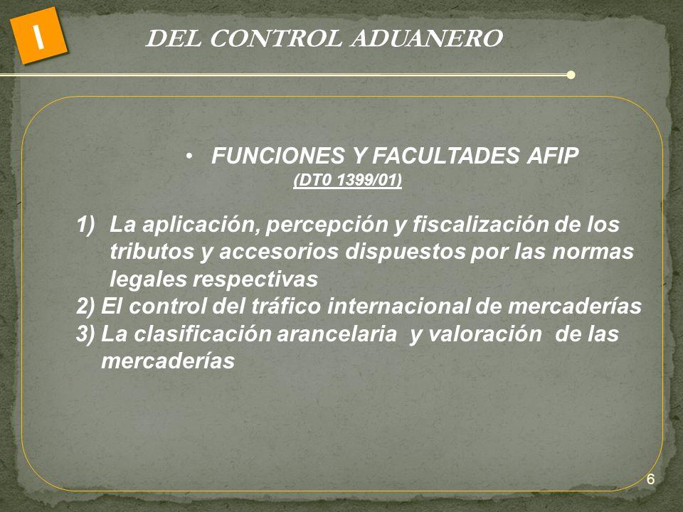 FUNCIONES Y FACULTADES AFIP