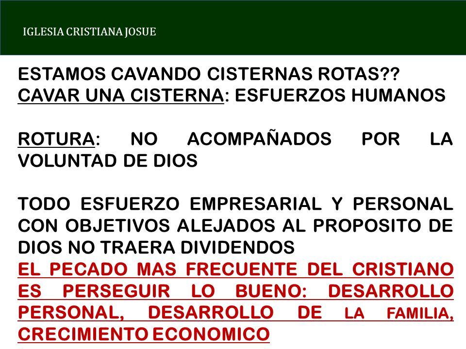 ESTAMOS CAVANDO CISTERNAS ROTAS