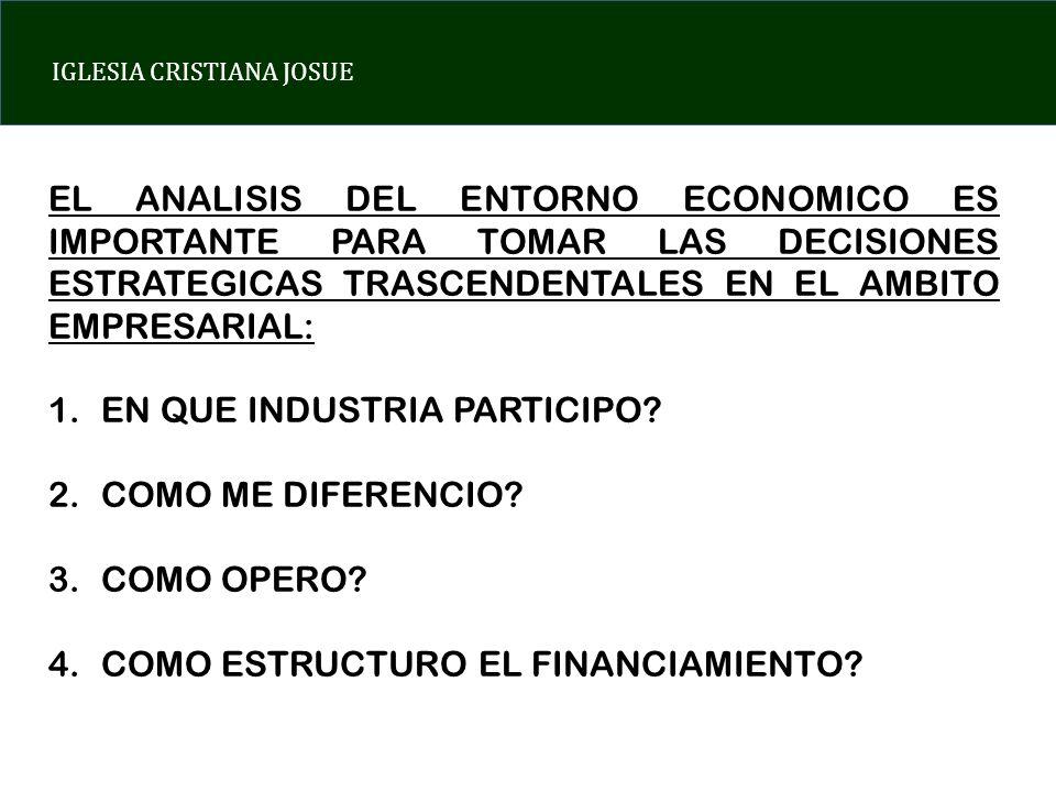 EL ANALISIS DEL ENTORNO ECONOMICO ES IMPORTANTE PARA TOMAR LAS DECISIONES ESTRATEGICAS TRASCENDENTALES EN EL AMBITO EMPRESARIAL: