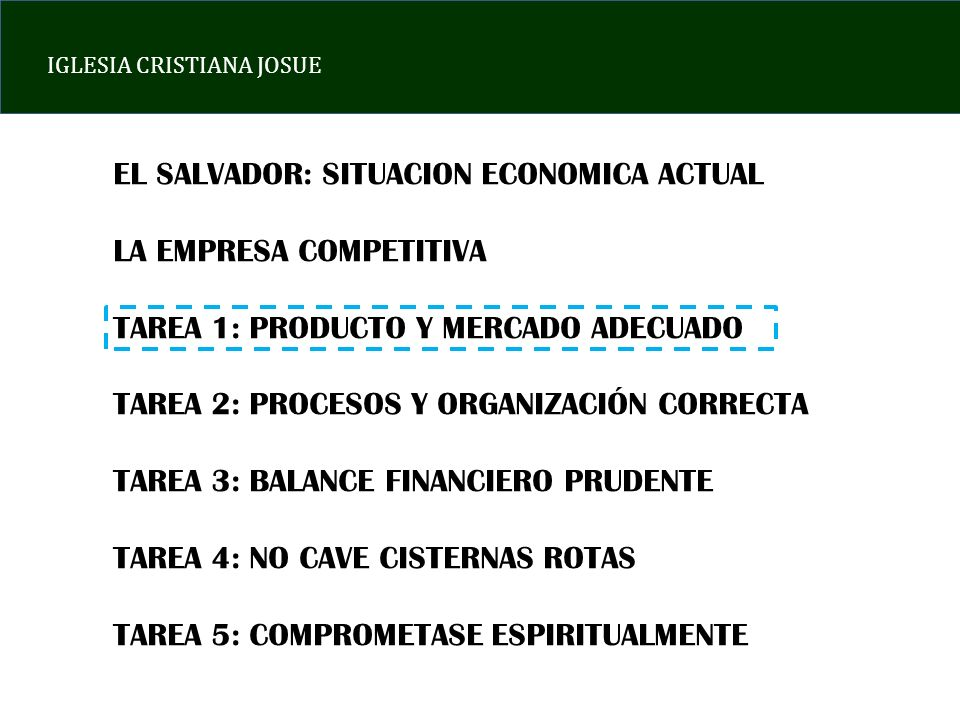 EL SALVADOR: SITUACION ECONOMICA ACTUAL