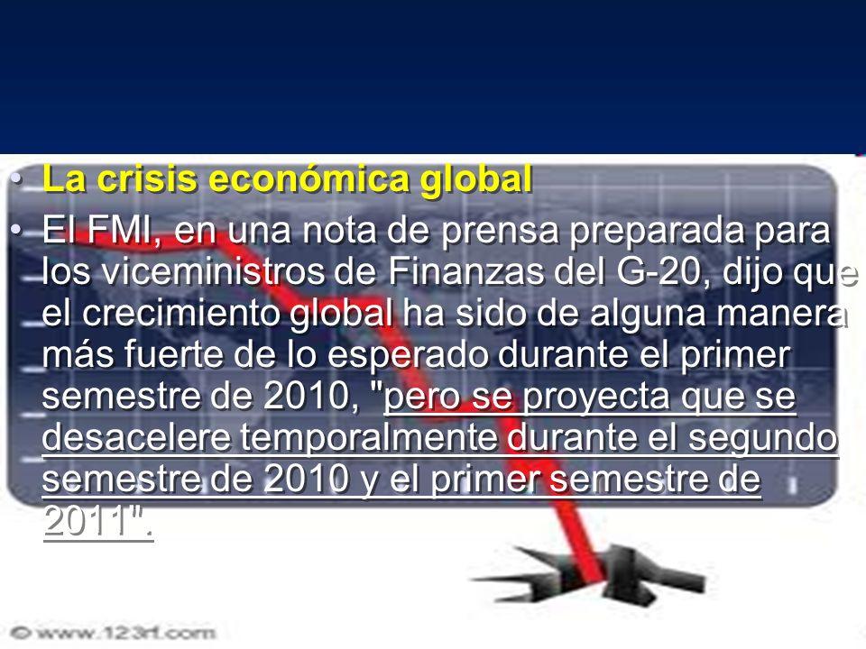 La crisis económica global