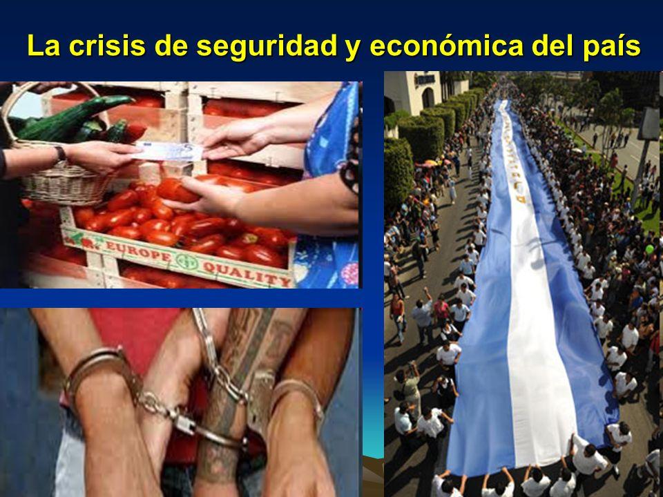 La crisis de seguridad y económica del país