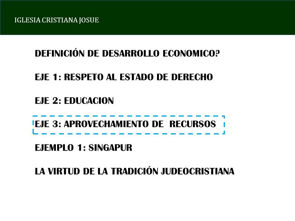 DEFINICIÓN DE DESARROLLO ECONOMICO