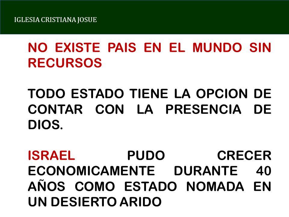 NO EXISTE PAIS EN EL MUNDO SIN RECURSOS