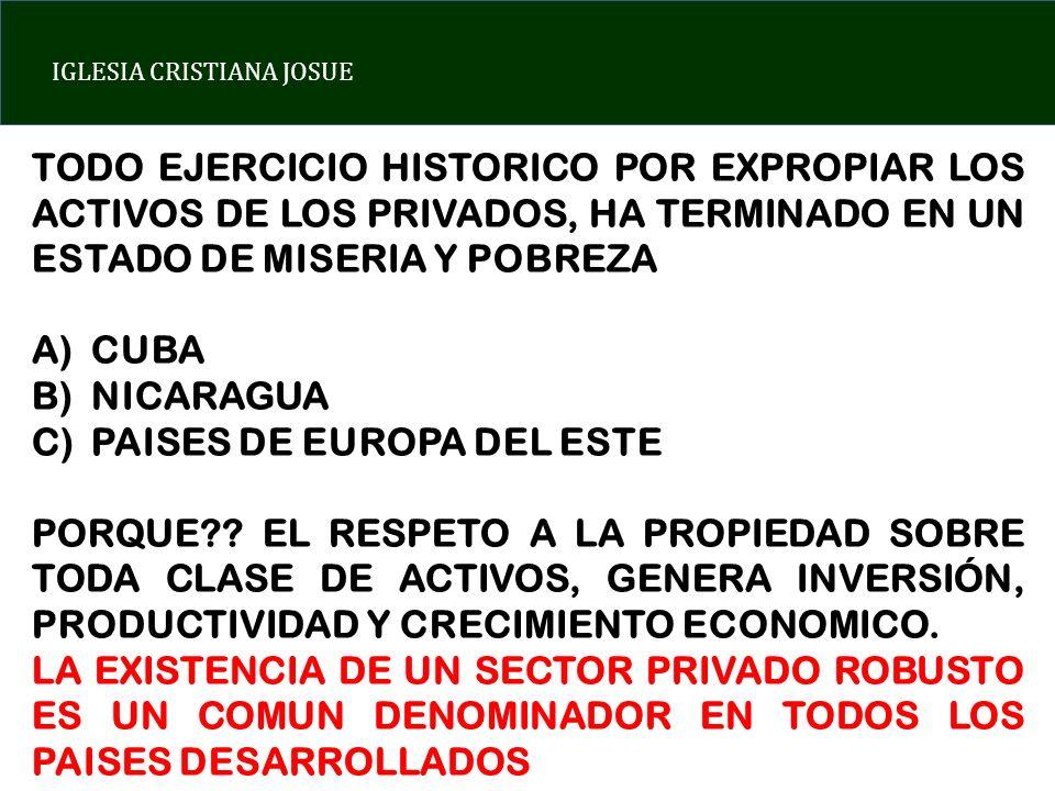 TODO EJERCICIO HISTORICO POR EXPROPIAR LOS ACTIVOS DE LOS PRIVADOS, HA TERMINADO EN UN ESTADO DE MISERIA Y POBREZA