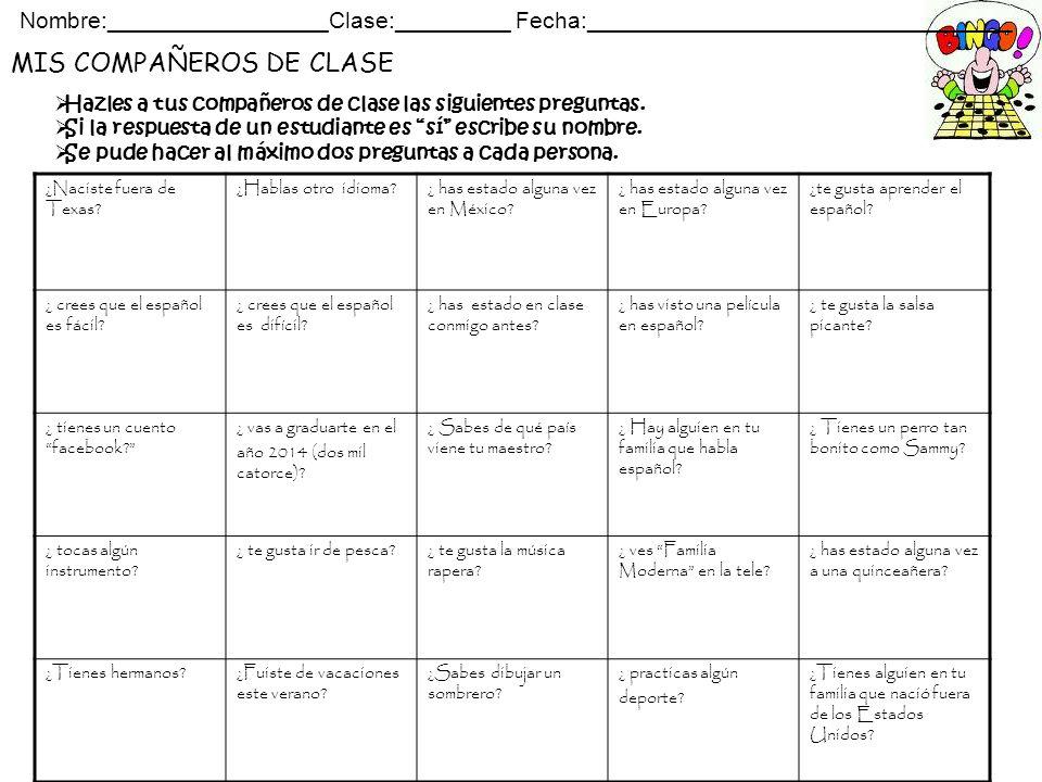 MIS COMPAÑEROS DE CLASE