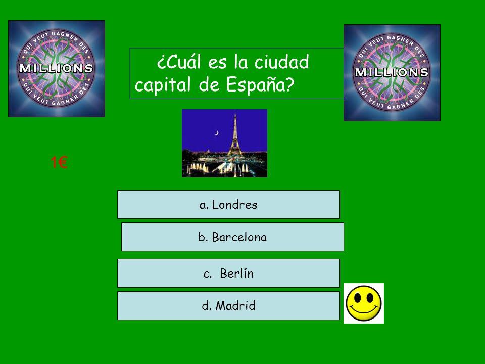¿Cuál es la ciudad capital de España