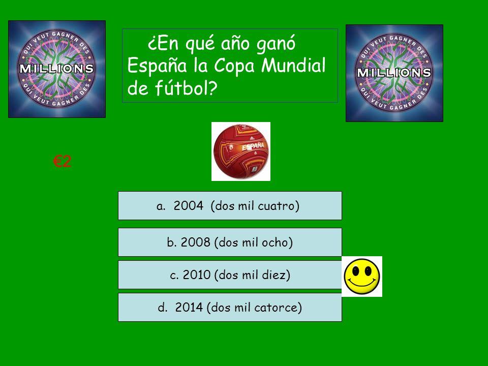¿En qué año ganó España la Copa Mundial de fútbol