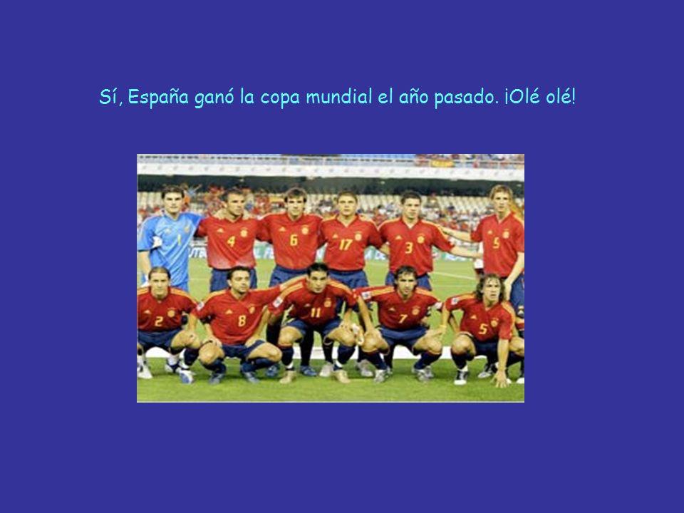 Sí, España ganó la copa mundial el año pasado. ¡Olé olé!