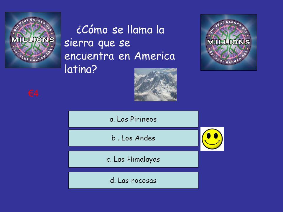 ¿Cómo se llama la sierra que se encuentra en America latina