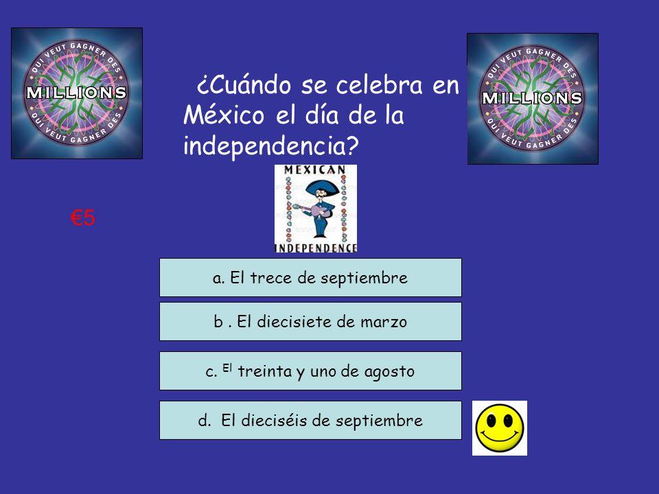 ¿Cuándo se celebra en México el día de la independencia