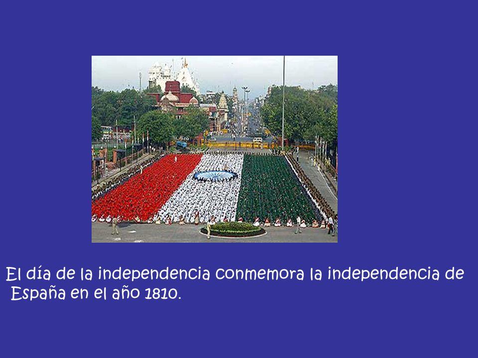 El día de la independencia conmemora la independencia de