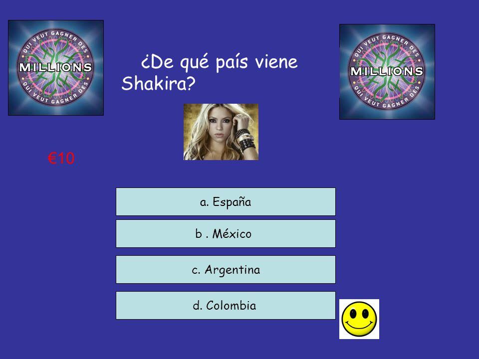¿De qué país viene Shakira