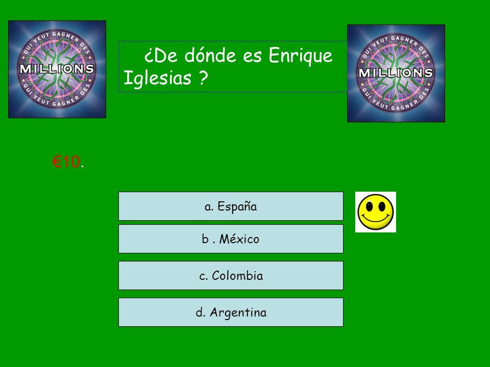 ¿De dónde es Enrique Iglesias