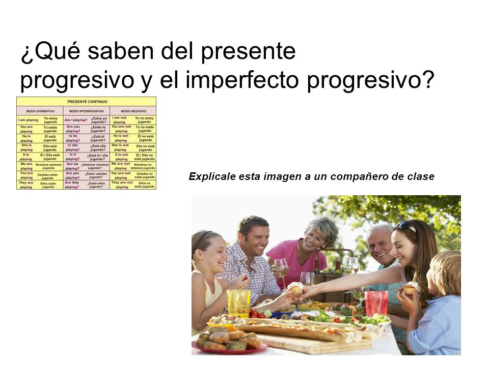¿Qué saben del presente progresivo y el imperfecto progresivo