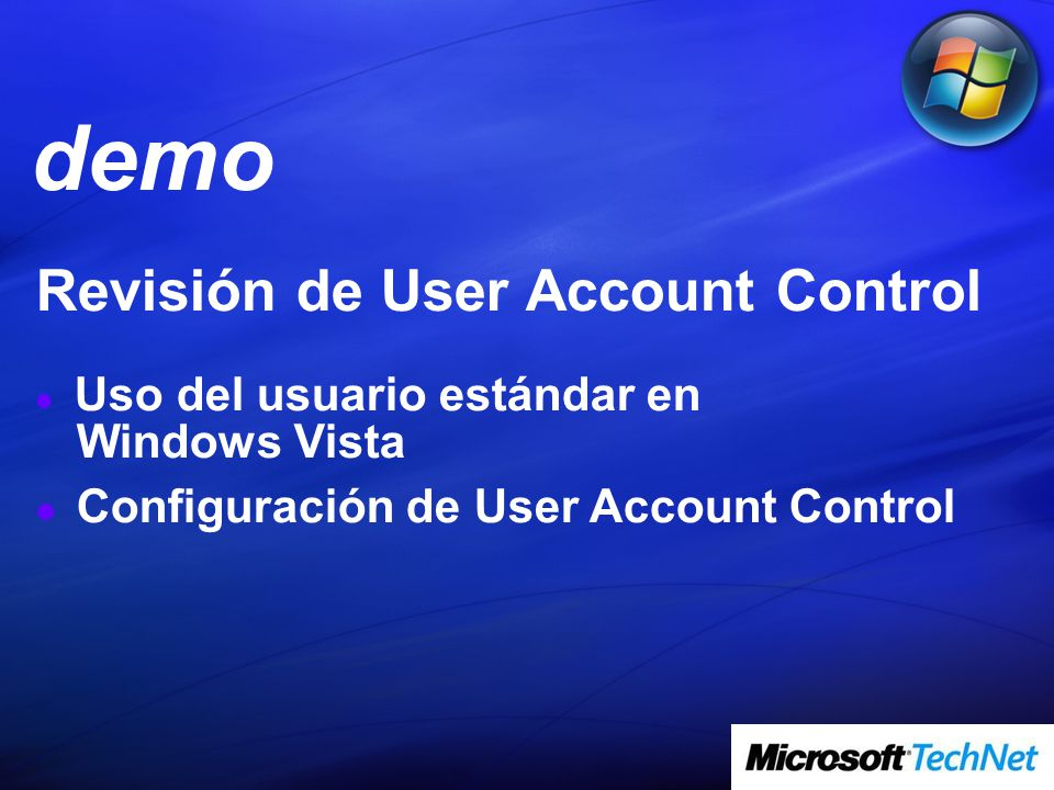 demo Revisión de User Account Control