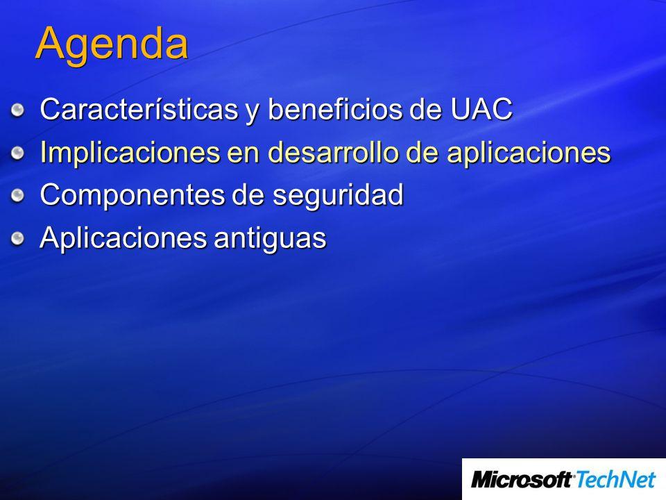 Agenda Características y beneficios de UAC