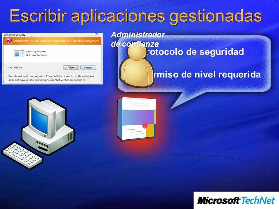 Escribir aplicaciones gestionadas