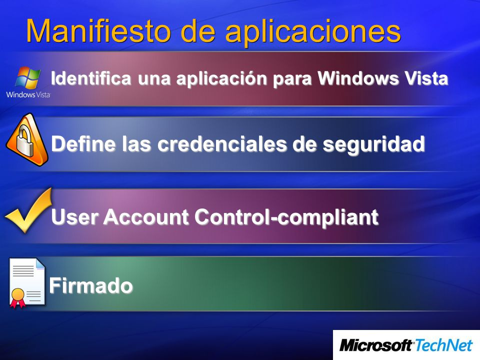 Manifiesto de aplicaciones
