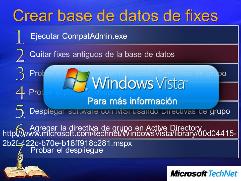 Crear base de datos de fixes