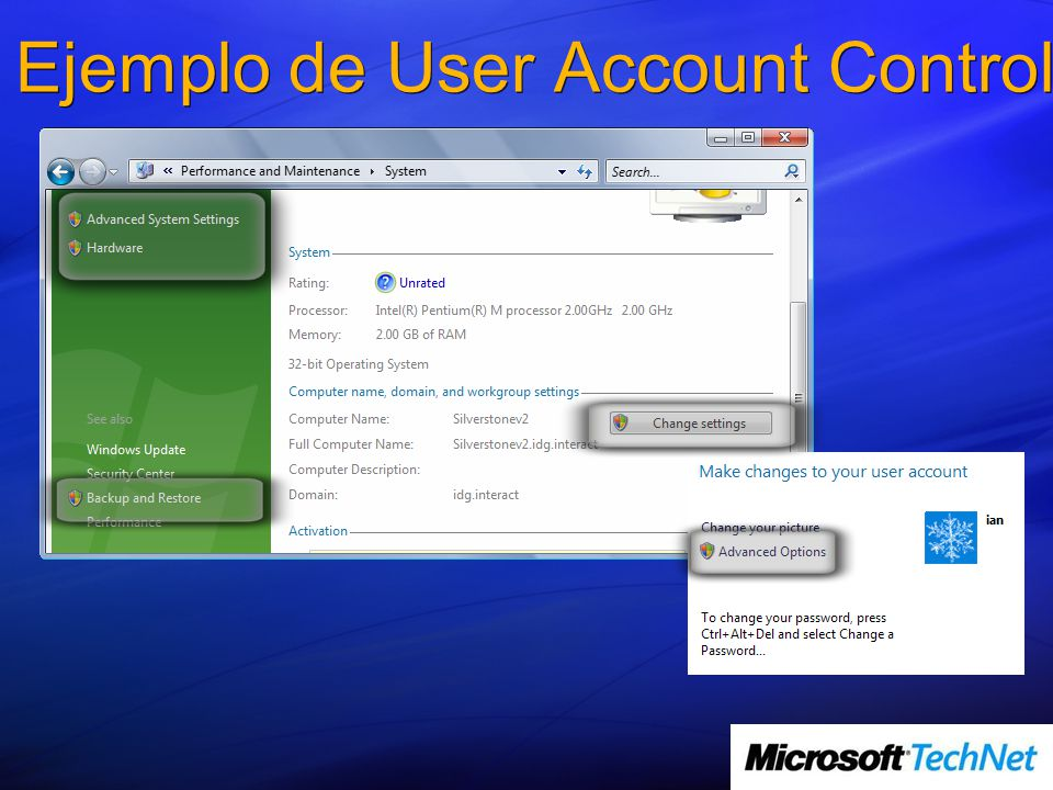 Ejemplo de User Account Control
