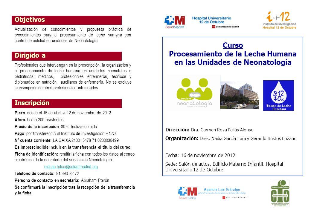 Procesamiento de la Leche Humana en las Unidades de Neonatología