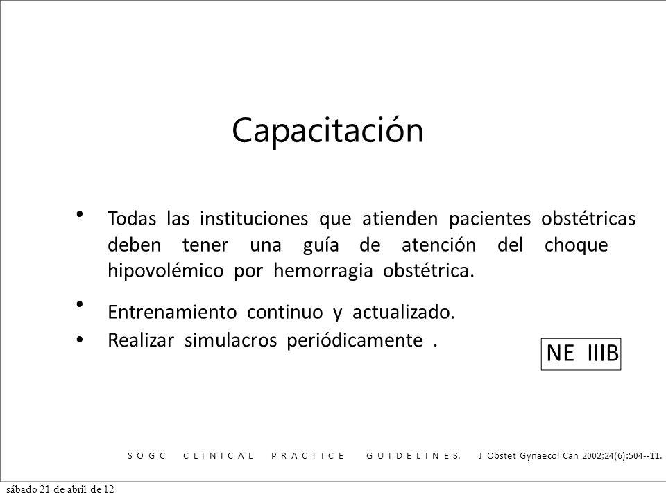 NE IIIB Todas las instituciones que atienden pacientes obstétricas