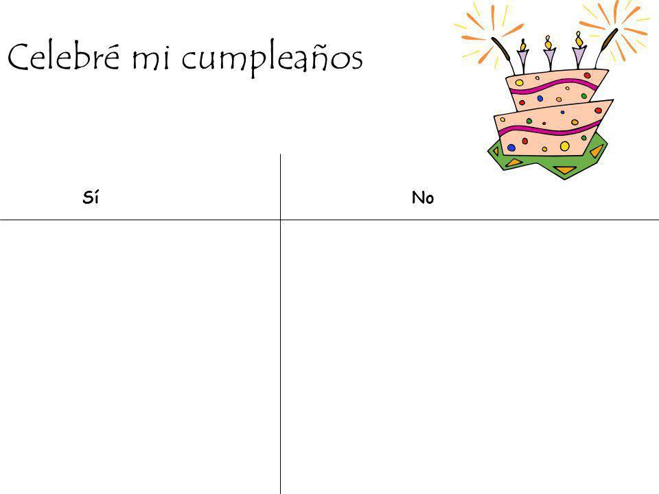 Celebré mi cumpleaños Sí No