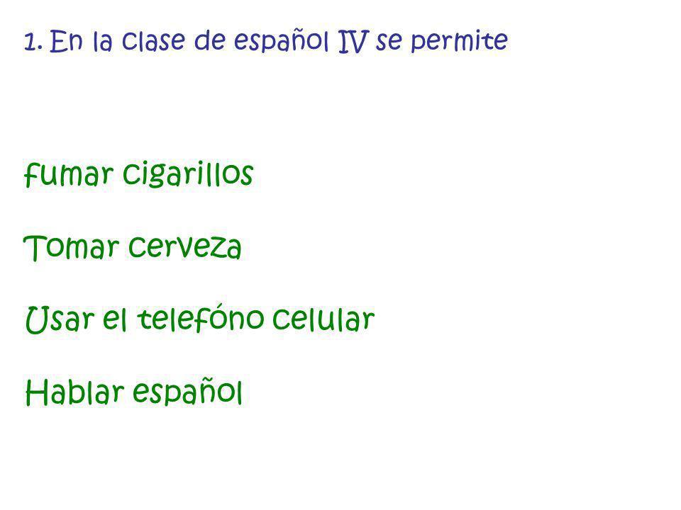 Usar el telefóno celular Hablar español