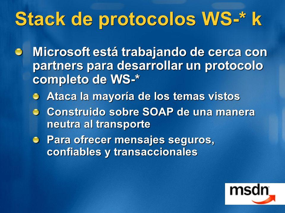 Stack de protocolos WS-* k